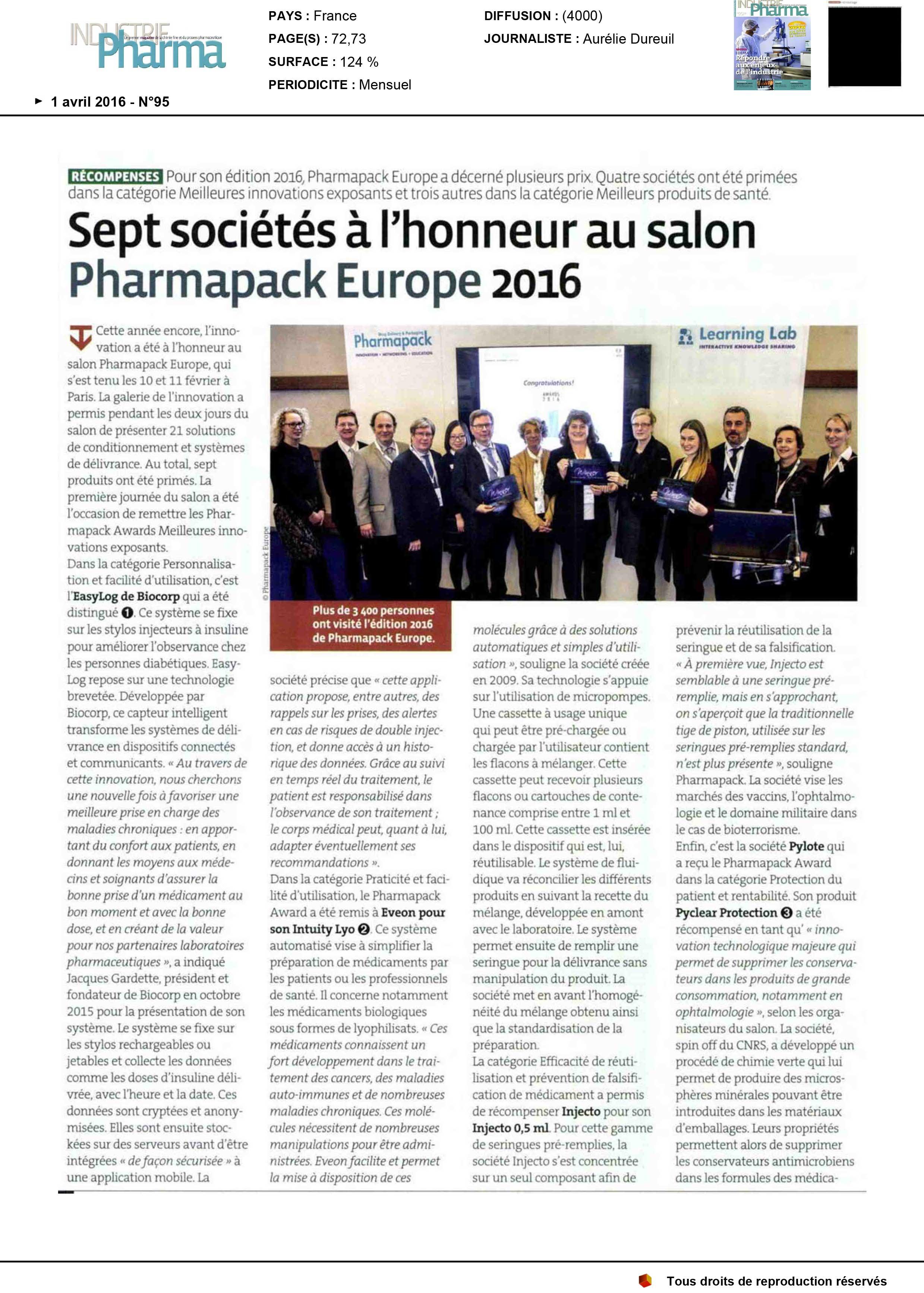 Press-Release-Industrie-Pharma_Avril-2016